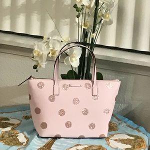 Kate Spade Hani Haven Lane Pink Glitter Small Tote